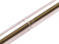 1982 PARKER 75 Made in France 14K Gold M Medium Soft Nib Brushed Steel Fountain Pen with Converter