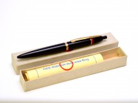 Vintage 1950s Rotring TIKK-KULI Germany Hard Rubber 7 Gold Push Button Ballpoint Pen