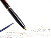 "1970s MONTBLANC No.281 Precious Black Resin & Gold Lever Mechanism 11th ""Eleventh Finger"" Ballpoint Pen"