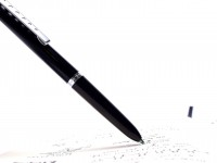 1980s Vintage Montblanc Carrera 570 4 Color Black, Red, Blue & Green Push Button Ballpoint Pen