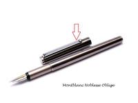 Vintage Metal Montblanc Noblesse Oblige Fountain & Rollerball Pen Clip w/ Emblem Part Spare Repair