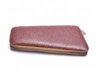 Vintage High Quality MEWA Hard Brown Leather Pouch Case With Pocket for 2 Fountain Ballpoint Pens & Pencils