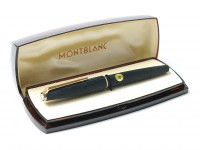 MONTBLANC No. 220 Fountain Pen Matte Brushed 14K Gold OB Oblique Broad large Nib