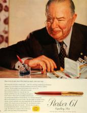NOS 1960s MKII Made in USA PARKER 61 Original Unused Capillary Filling Cartridge Gold Filled & Black 14K F Nib Fountain Pen