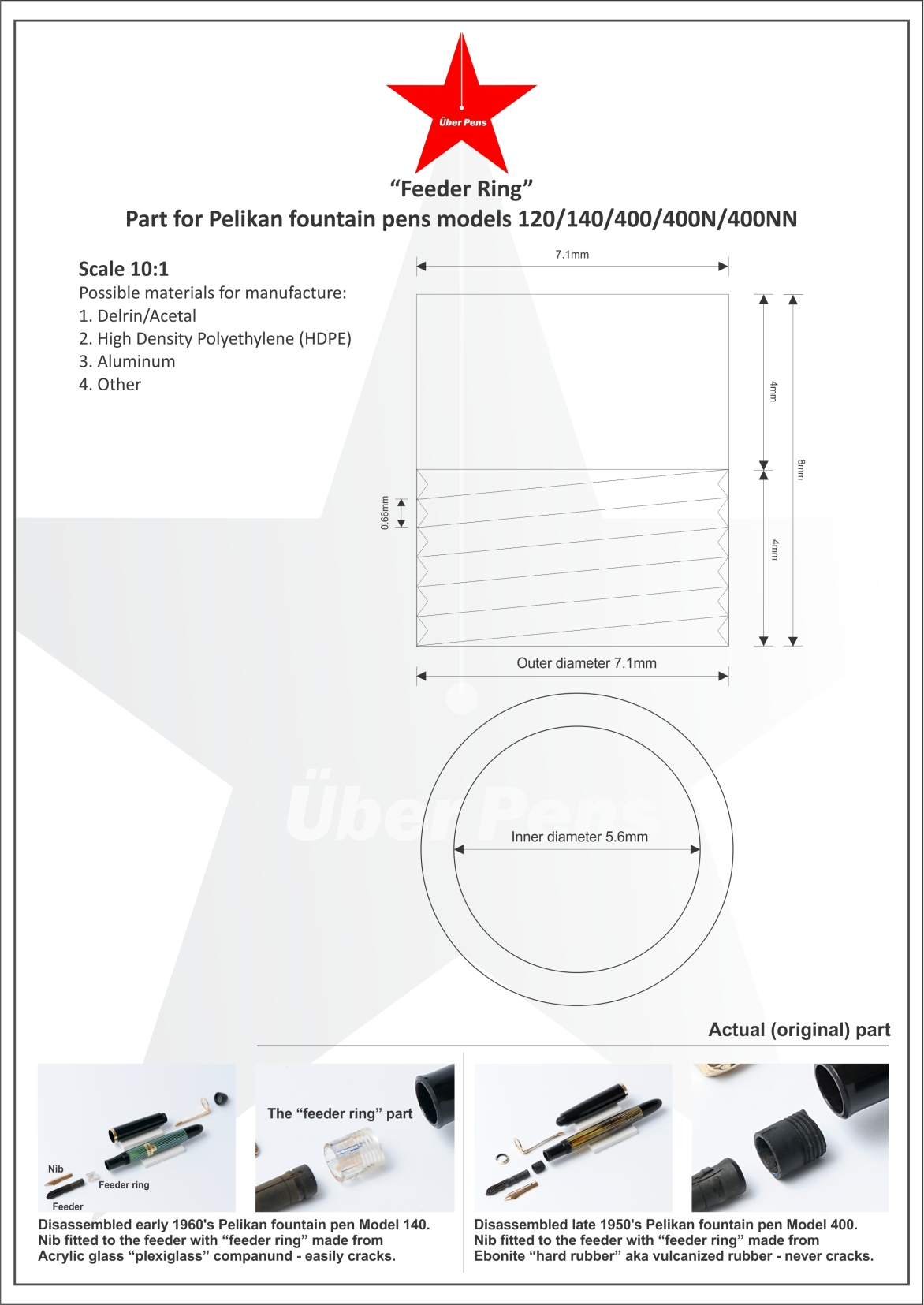 About Us Fountain Pen Parts Diagram In May 2014 We Took A Big Step To The Unknown Were First Ever Vintage Store World Offer Full 1 Year Warranty On All